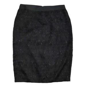 NWT Banana Republic Black Eyelash Pencil Skirt 10